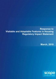 Visitable and Adaptable Features in Housing (PDF 253 KB) - Scope
