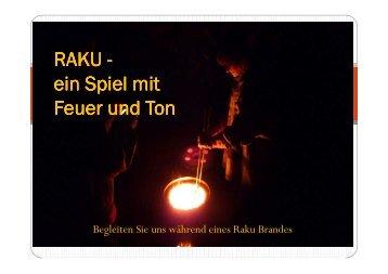 RAKU - ein Spiel mit Feuer & Ton