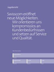 2. Lagebericht - Geschäftsbericht 2012 - Swisscom