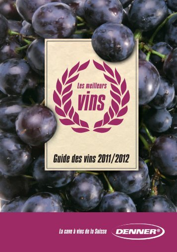 Guide des vins 2011 / 2012 - Denner Wineshop.ch