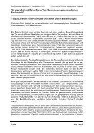 Tiergesundheit in der Schweiz im Vergleich zum Ausland - svt-asp.ch