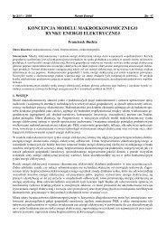 koncepcja modelu makroekonomicznego rynku energii ... - CIRE.pl