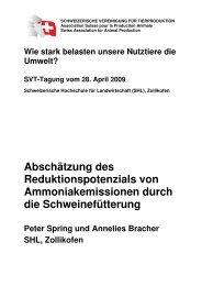 Ammoniak: Ammoniakemmissionen durch die ... - svt-asp.ch