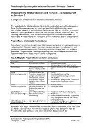 Wirtschaftliche Milchproduktion und Tierwohl - ein ... - svt-asp.ch