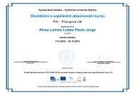 Osvˇedˇcení o úspˇešném absolvování kurzu Alves Lemos Lobao ...