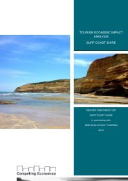 Tourism Economic Impact Analysis - Surf Coast Shire