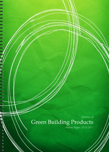 Directory of Green Building Products - Canada Green Building Council