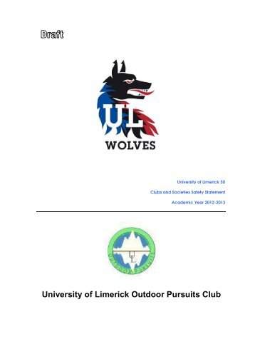 Clubs And Societies Safety Statement Template  Clubs  Socs
