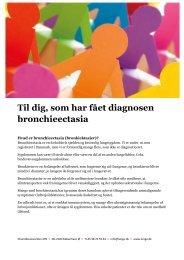 Patientvejledning om bronchieectasia - Danmarks Lungeforening