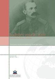 Sodobni vojaški izzivi - Slovenska vojska