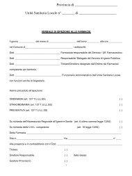 verbale ispezioni farmacia - Ordine dei Farmacisti della Provincia di ...
