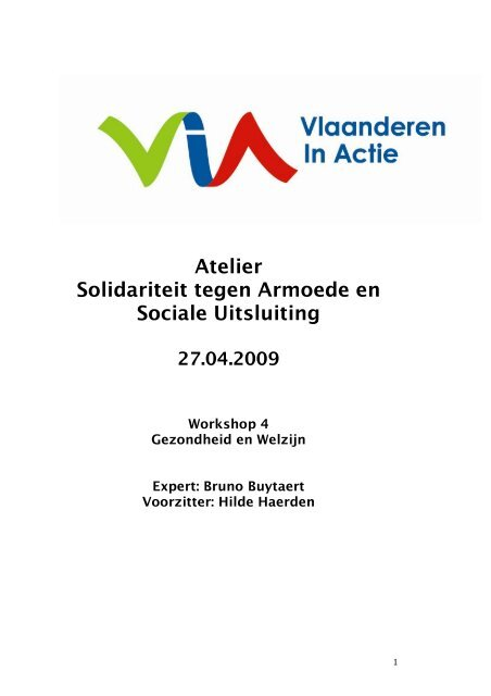 Atelier Solidariteit tegen Armoede en Sociale Uitsluiting