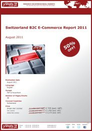 Switzerland B2C E-Commerce Report 2011 - yStats.com