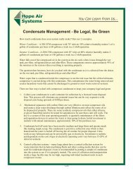 Condensate Management - Be Legal, Be Green - Hope Air Systems