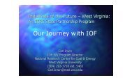 Our Journey with IOF - Industries of the Future - West Virginia