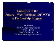 A Partnership Program - Industries of the Future - West Virginia