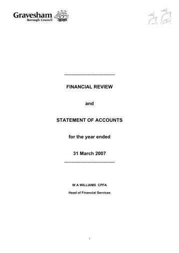 FINANCIAL REVIEW and STATEMENT OF ACCOUNTS for the year ...