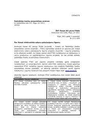 IZRAKSTS Patērētāju tiesību aizsardzības centram Kr ... - Par PTAC