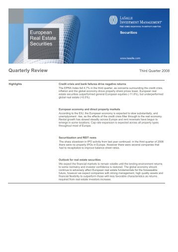 Quarterly Review - LaSalle Investment Management