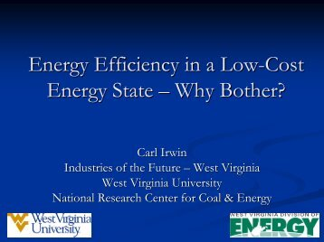 Energy Efficiency in a Low-Cost Energy State - Why Bother?