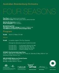 download PDF program - Australian Brandenburg Orchestra