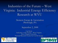 WV: Industrial Energy Efficiency Research at WVU - Industries of the ...