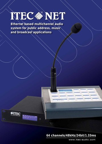 Ethernet based multichannel audio system for public address, music ...