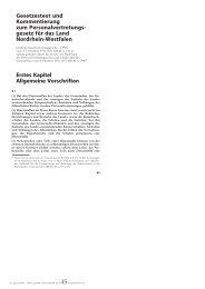 LPVG-NRW 1..464 - Bund-Verlag GmbH