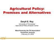 Premises and Alternatives - Agricultural Policy Analysis Center