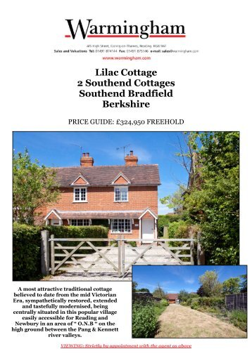 Lilac Cottage 2 Southend Cottages Southend ... - Warmingham