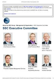 SSC Executive Committee - uppsagd