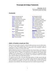 Personajes del Antiguo Testamento - Tesoro Digital