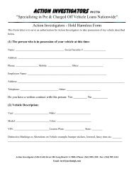 Paramount Investigations - Hold Harmless Form - Action Auto ...