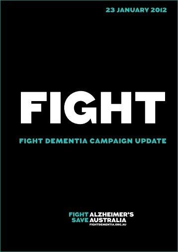 FIGHT DEMENTIA CAMPAIGN UPDATE - Alzheimer's Australia