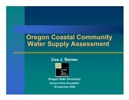 Oregon Coastal Community Water Supply Assessment - Institute for ...
