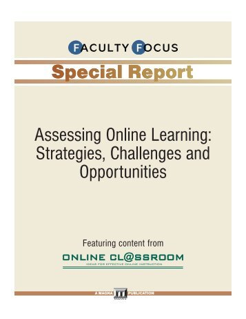 Assessing Online Learning: Strategies, Challenges and Opportunities