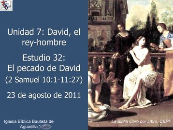 2 Samuel - Iglesia Biblica Bautista de Aguadilla, Puerto Rico