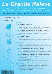 N° 1069- octobre 2006 - Association pour l'Économie Distributive