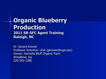 Organic Blueberry Production - The Southern Region Small Fruit ...