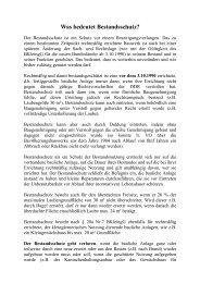 Was bedeutet Bestandsschutz - KGV-Herrenhorst1988e.V.