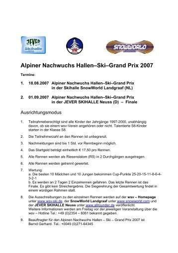 Alpiner Nachwuchs Hallen–Ski–Grand Prix 2007 - westdeutscher ...