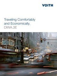 Traveling Comfortably and Economically. DIWA.3E - Voith Turbo