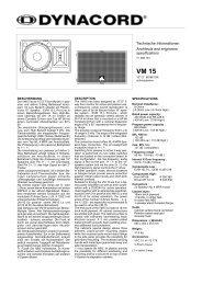Technische Informationen Architects and engineers specifications
