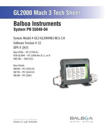 55048-04, GL2-GL2000M3-RCA-3.0 - Balboa Direct