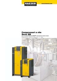 Compressori a vite Serie SM - Air Bonaita