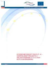 externí metodický pokyn č. 42 - Regionální rada regionu soudržnosti ...