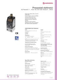 Pressostati elettronici - Air Bonaita