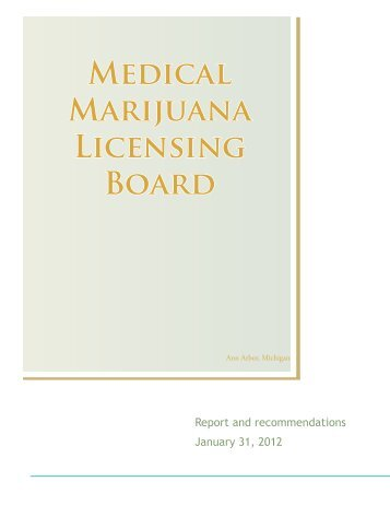 pdf of medical marijuana licensing board report to the city council