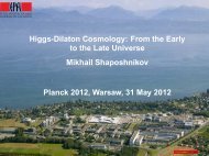 Higgs-Dilaton Cosmology: From the Early to the Late ... - Planck 2012