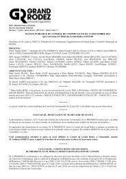 Compte Rendu - La Communauté d'agglomération du Grand Rodez